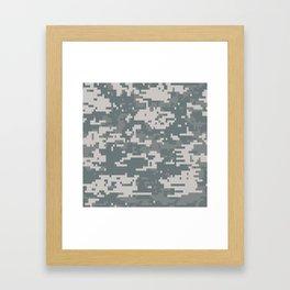 Digital Camouflage Framed Art Print