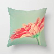 Darling Gerber Daisy  Throw Pillow