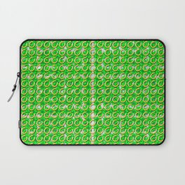 Gold horseshoes and four leaf clovers that are lucky for some Laptop Sleeve