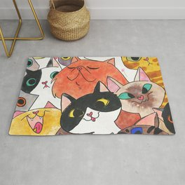 Gangster Colorful Cat Rug