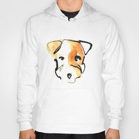 jack russell Hoodies featuring Jack Russell by Jen Moules