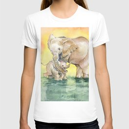 Colorful Mother's Love - Elephant T-shirt