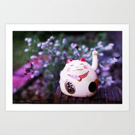 Maneki Neko chill Art Print