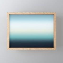 ocean sky color gradient  - blue , white , black Framed Mini Art Print