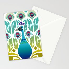 Indian Blue Peacock [Pavo Cristatus] Stationery Cards