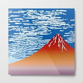 Hokusai Red Fuji_01 Metal Print