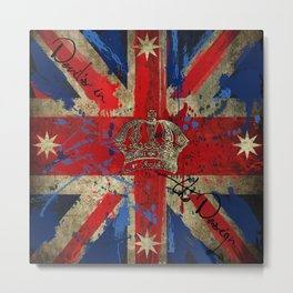 Union Jack & Eureka Flag Metal Print