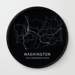 Washington State Road Map Wall Clock
