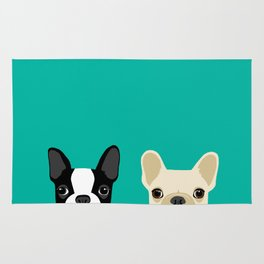 Boston Terrier & French Bulldog 2 Rug