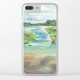 Green Lake in June Clear iPhone Case