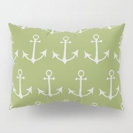 Nautical Anchors (Boat Anchors) - Green Gray Pillow Sham