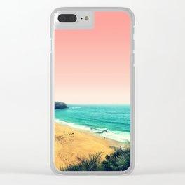 Beach Scene Clear iPhone Case