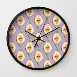 Shout Out to All the Pear on Plum Wall Clock