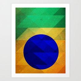 Brazilian triangles Art Print