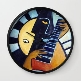 Blues Guitarist Wall Clock