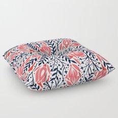 Adventure is Calling – Red & Black Palette Floor Pillow