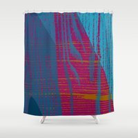 quibe Shower Curtains featuring Feel the texture III by Magdalena Hristova