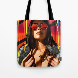 """Illustration Collage """"Red, Blue, Yellow - You"""" Tote Bag"""