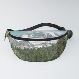 Mount Rainier Turquoise Adventure -  Mountain Forest Wanderlust Fanny Pack