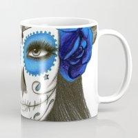 sugar skull Mugs featuring Sugar Skull by Lidiane Dutra