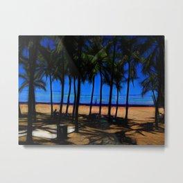 Hawaii Beach At Midday Metal Print
