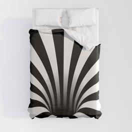 Optical Illusion Op Art Radial Stripes Warped Black Hole Duvet Cover