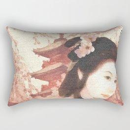 Asian Rose Rectangular Pillow