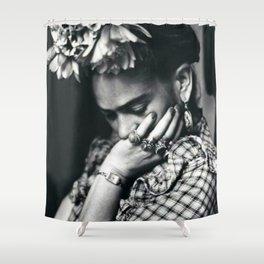 Frida Kahlo Historical Photography Shower Curtain
