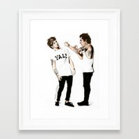 larry Framed Art Prints featuring Larry by Sam Coffee