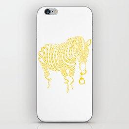 Yellow Zebra Crime Scene Artwork iPhone Skin