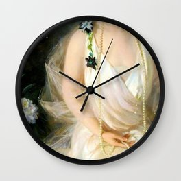 Portrait of Agnes Marsh Wall Clock