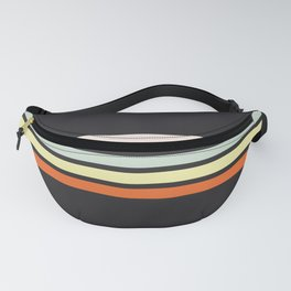 Colorful Stripes Black VIII Fanny Pack