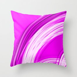 Semicircular sections of pink metal with intersections of bright strings.  Throw Pillow