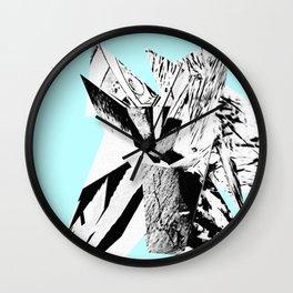 Light Blue Glitch Scrunch Wall Clock