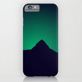 Sri Lanka Sri Pada : Emerald Mountain Silhouette  iPhone Case