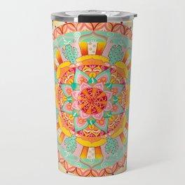 Turquoise Cactus Mandala Travel Mug