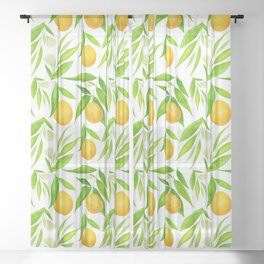 Oranges Sheer Curtain