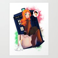 amy pond Art Prints featuring Doctor Who - Amy Pond by Lucy Fidelis