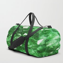 EMERALD GREEN CRYSTALS  MAY BIRTHSTONE Duffle Bag