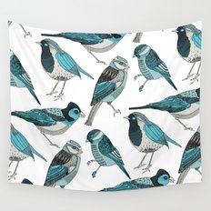 pale green birds Wall Tapestry