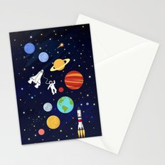 In space Stationery Cards