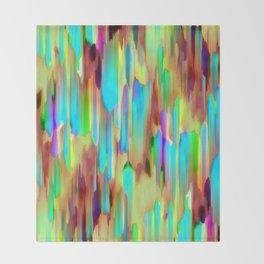 Colorful digital art splashing G505 Throw Blanket