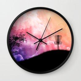 Basket On A Hill Wall Clock