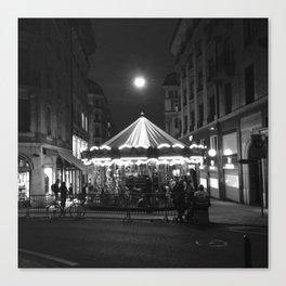 Geneva at night Canvas Print