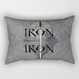 Iron Sharpeneth Iron Rectangular Pillow
