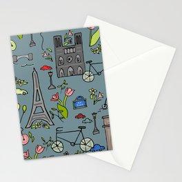 Cycling Through Paris Stationery Cards
