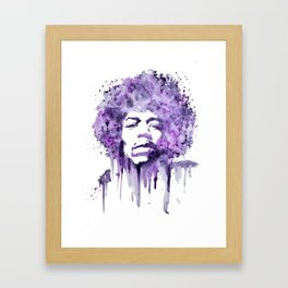 Jimi Hendrix - Purple Haze Framed Art Print