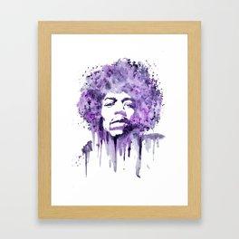 Jimi Hendrix - Purple Haze Framed Art Print