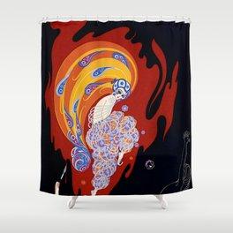 """Art Deco Design """"Oriental Tale"""" Shower Curtain"""