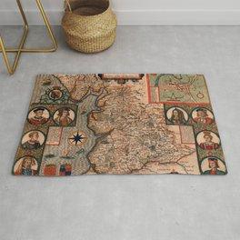 Map Of England 1610 Rug